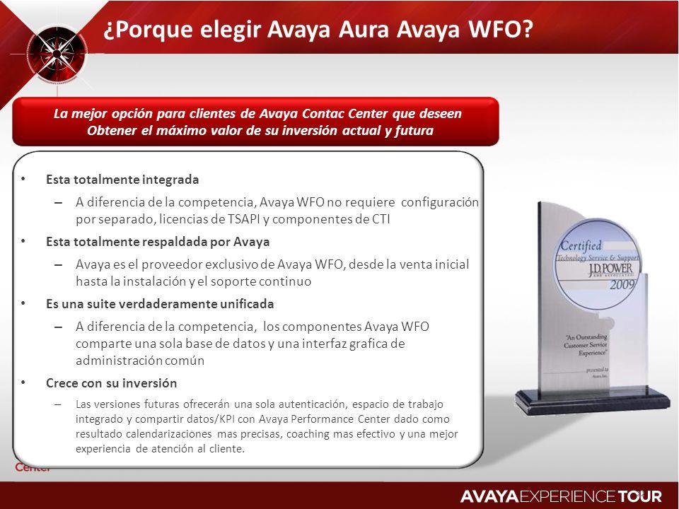 La mejor opción para clientes de Avaya Contac Center que deseen Obtener el máximo valor de su inversión actual y futura 22 ¿Porque elegir Avaya Aura A