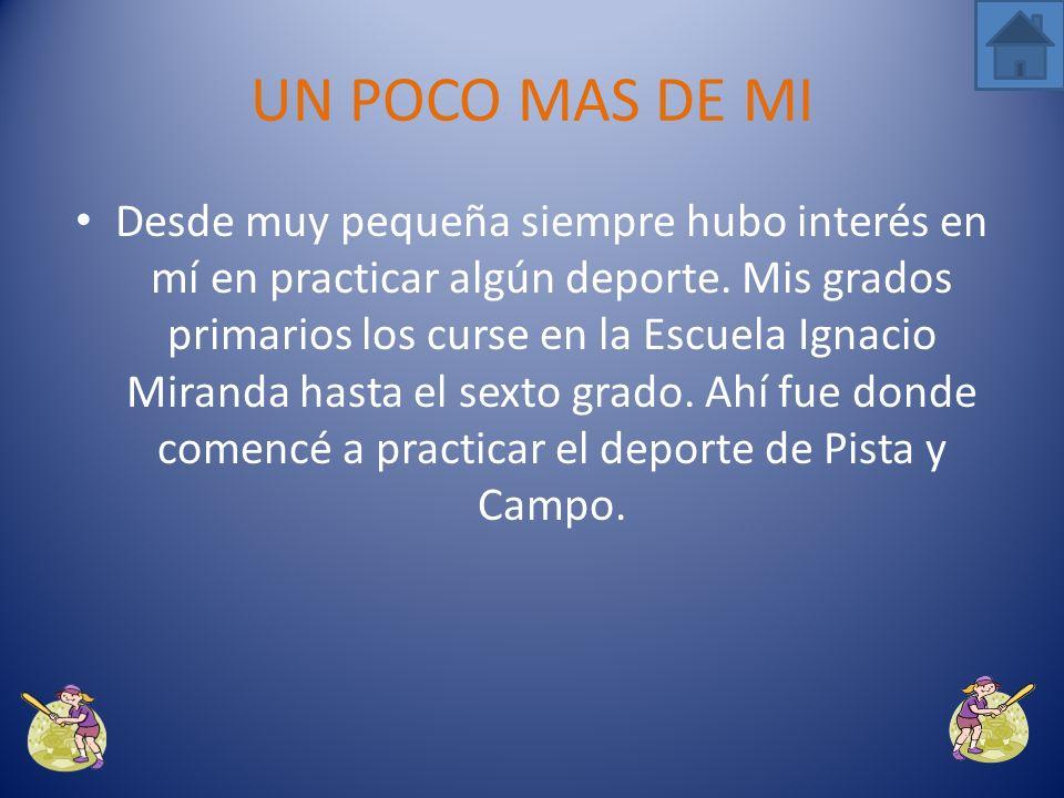 UN POCO MAS DE MI Mi nombre es Grismarie Rivera Rosado, tengo 19 años de edad. Nací el 19 de agosto de 1989 en el pueblo de Manatí. Son mis padres el