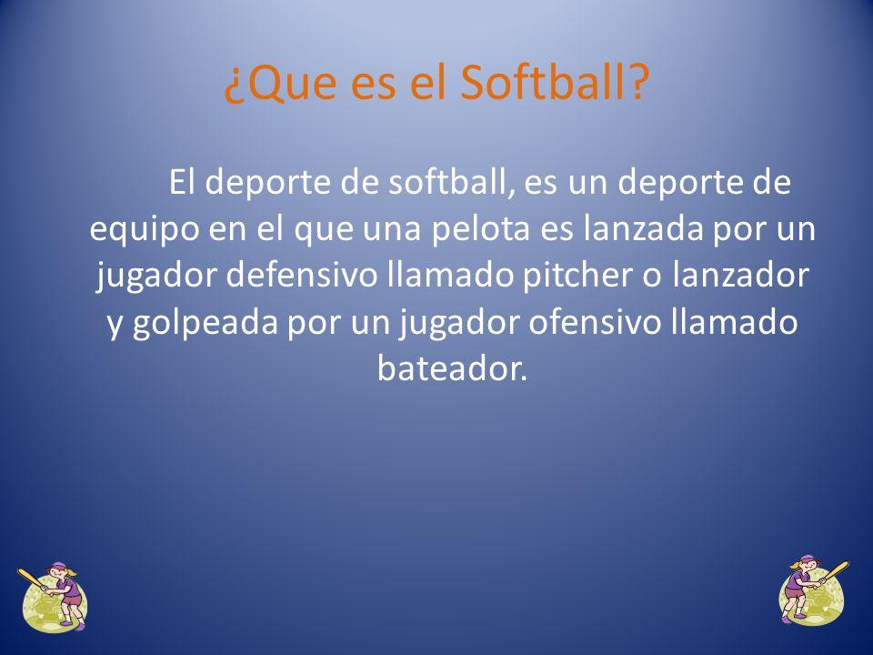 ¿Que es el Softball?