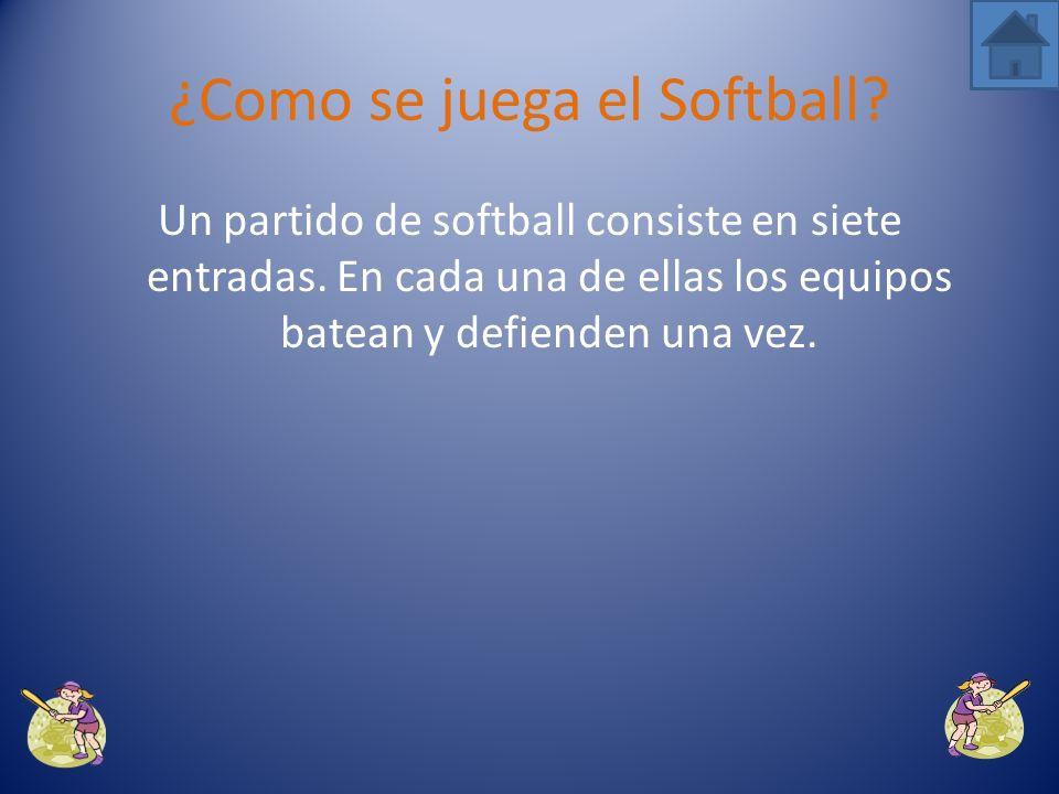 ¿Como se juega el Softball?