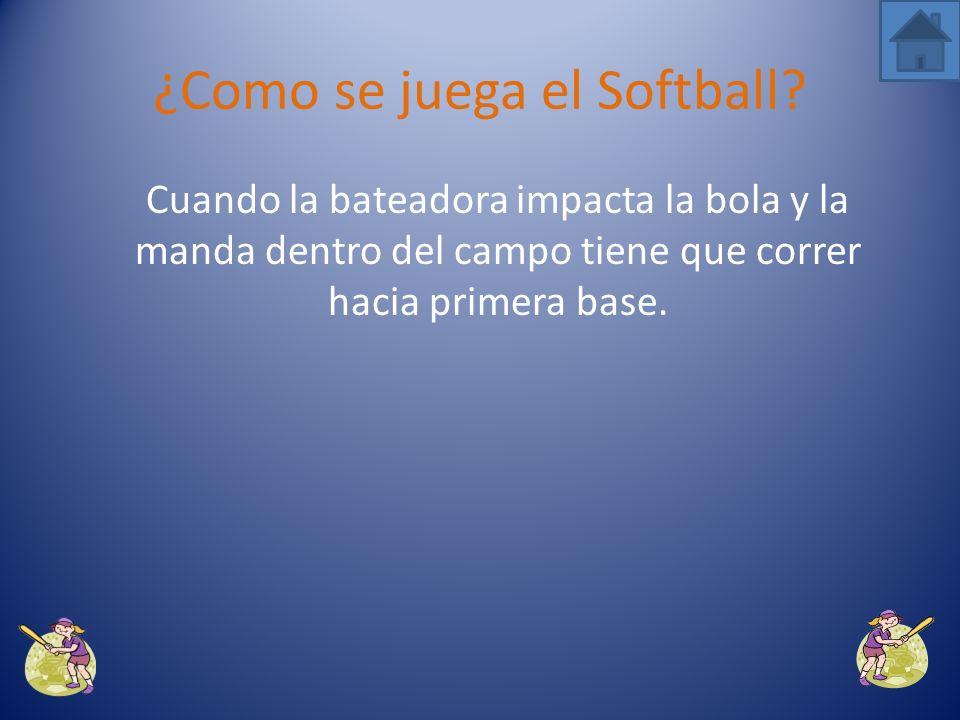 Si la pelota pasa por esa zona y la bateadora no la golpea o la bola hace contacto con su cuerpo, el árbitro cantará strike.
