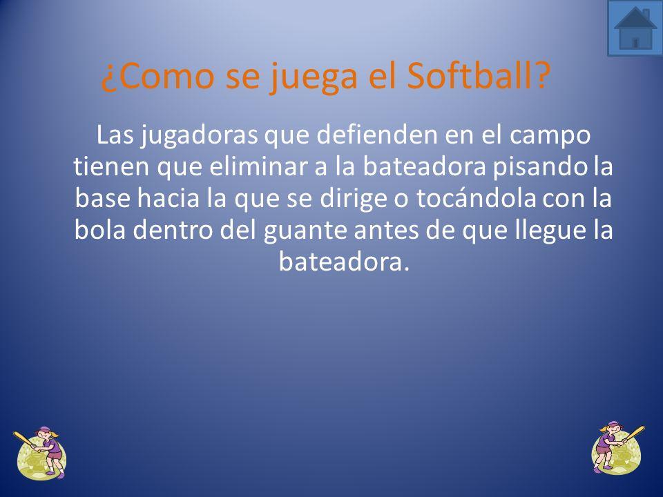Si la pitcher lanza cuatro bolas mal o golpea a la bateadora con la pelota, dicha bateadora avanza directamente a primera base.