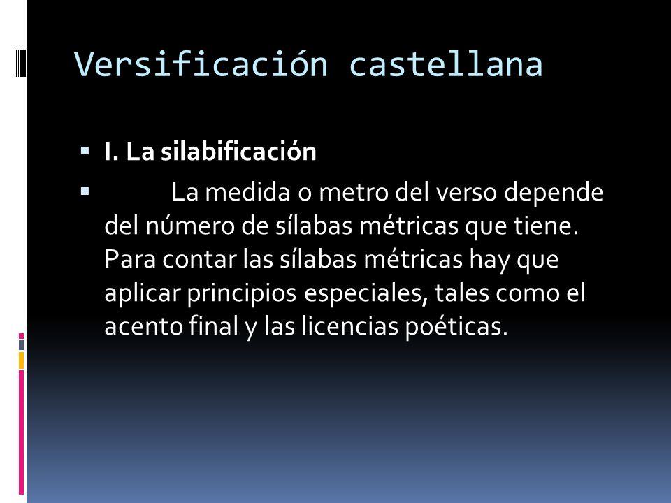 Versificación castellana I.