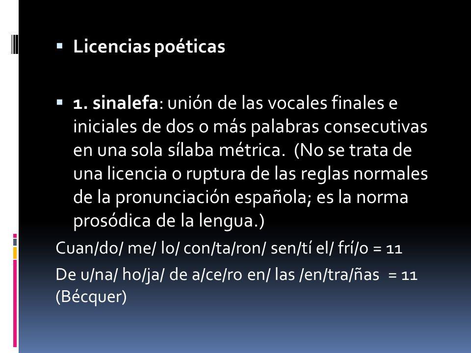 Licencias poéticas 1.