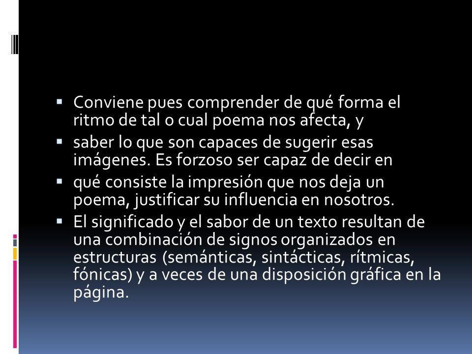 Un poema es también un objeto visual, constituido por el reparto del blanco y negro.