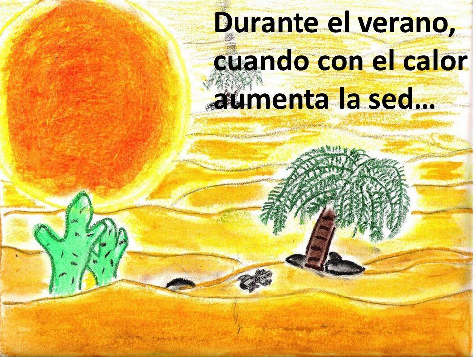 Durante el verano, cuando con el calor aumenta la sed…