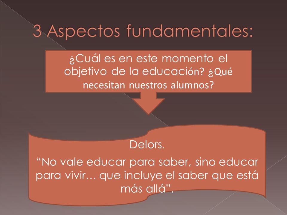 En Educacion: Nuestro trabajo no se dirige a nosotros mismos, sino a los adolescentes y j ó venes que tenemos ante nosotros.