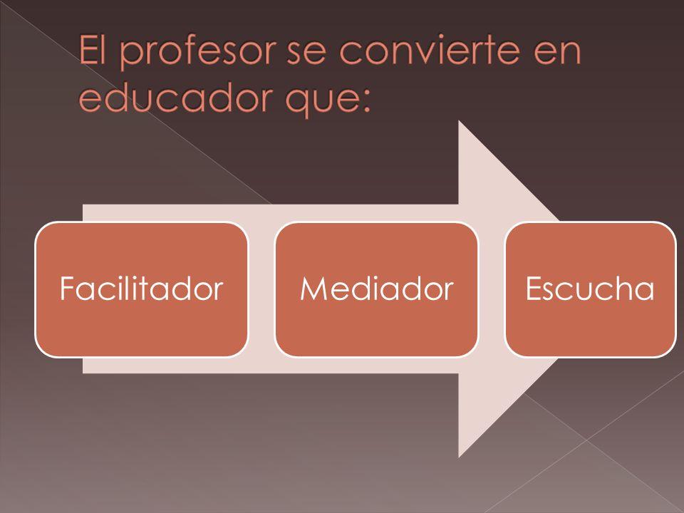 Pasar de la informaci ó n al conocimiento. Tecnol ó gias de la Informaci ó n y la comunicaci ón. Aprendizaje de valores. ¿Cuál es el papel del profeso