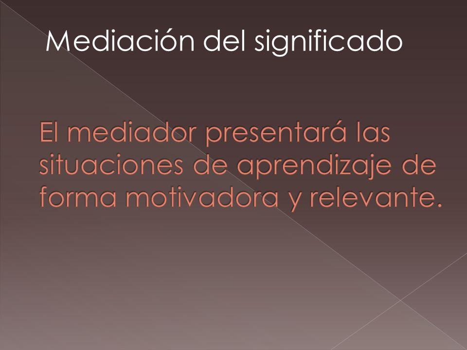 Mediación del significado