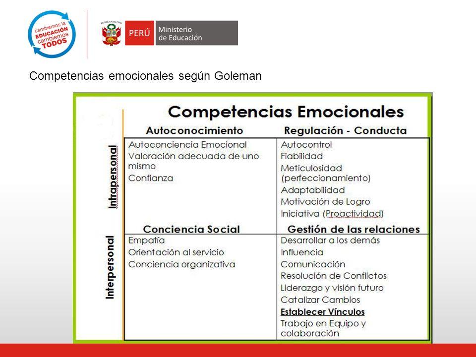 Competencias emocionales según Goleman
