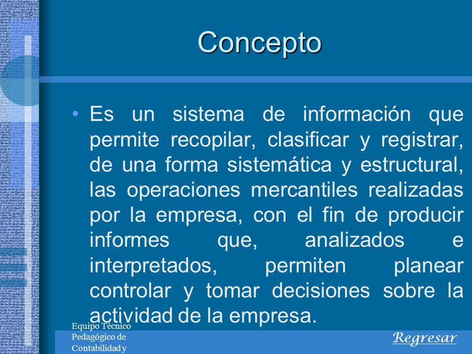 Concepto Cuenta es el nombre que se utiliza para registrar, en forma ordenada, las diferentes operaciones que realiza la empresa.