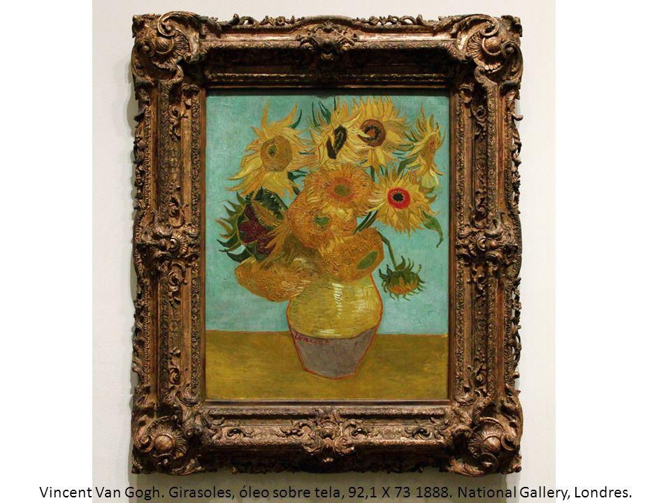 Vincent Van Gogh. Girasoles, óleo sobre tela, 92,1 X 73 1888. National Gallery, Londres.