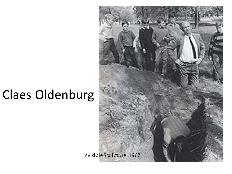 Claes Oldenburg Invisible Sculpture, 1967