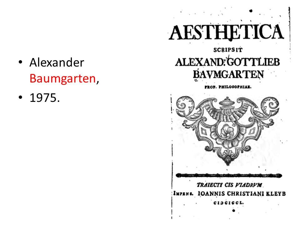 Alexander Baumgarten, 1975.