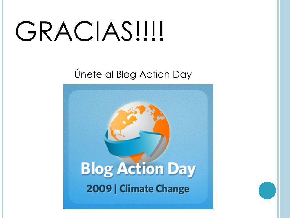 GRACIAS!!!! Únete al Blog Action Day