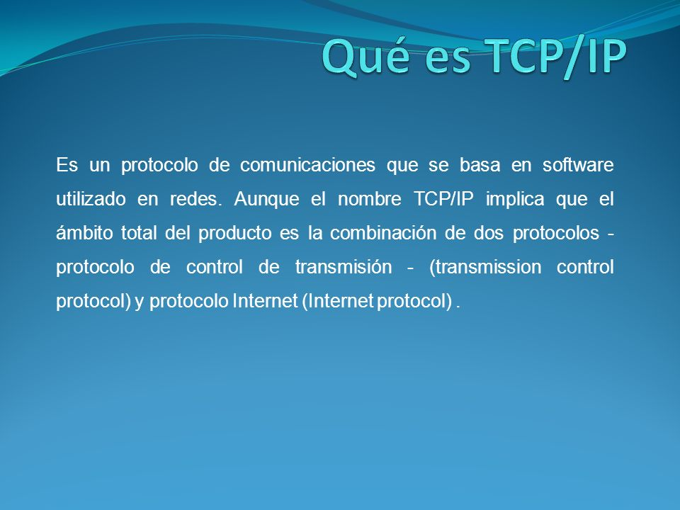Es un protocolo de comunicaciones que se basa en software utilizado en redes.