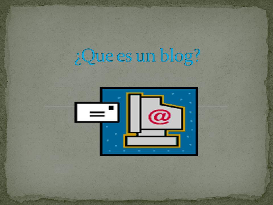 Un blog, o en español también una bitácora, es un sitio web periódicamente actualizado que recopila cronológicamente textos o artículos de uno o varios autores, apareciendo primero el más reciente, donde el autor conserva siempre la libertad de dejar publicado lo que crea pertinente.