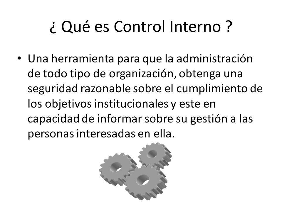 ¿ Qué es Control Interno .