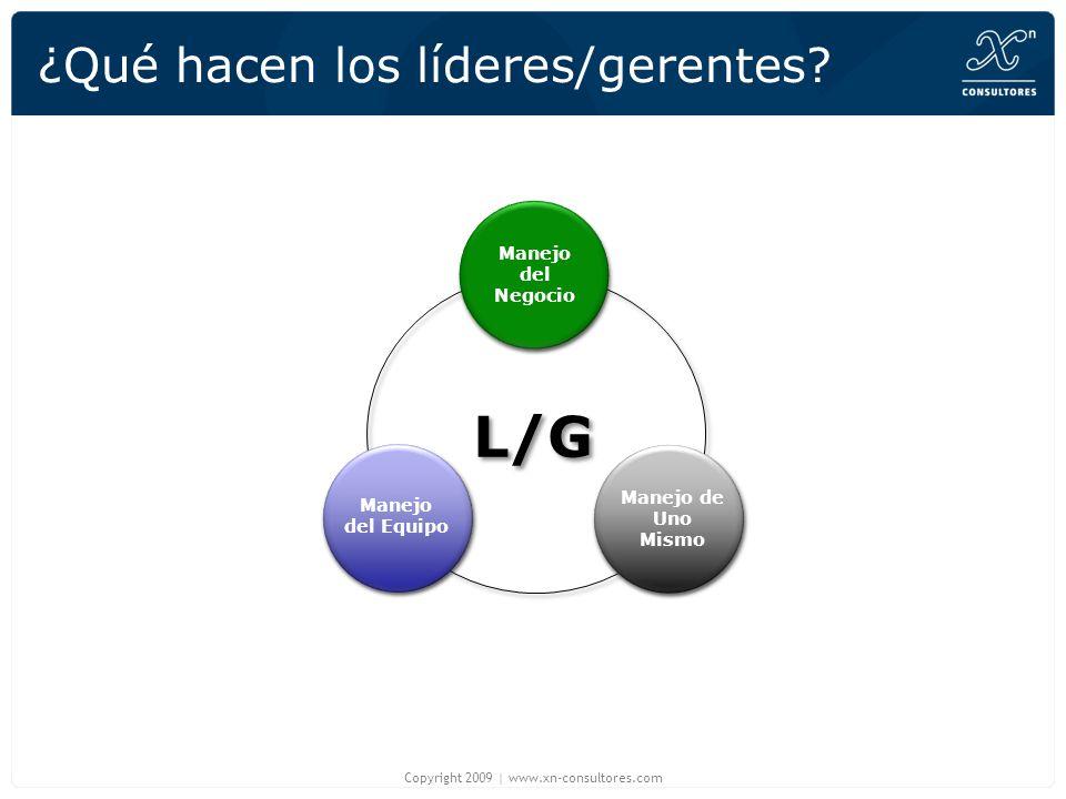 ¿Qué hacen los líderes/gerentes? Copyright 2009   www.xn-consultores.com