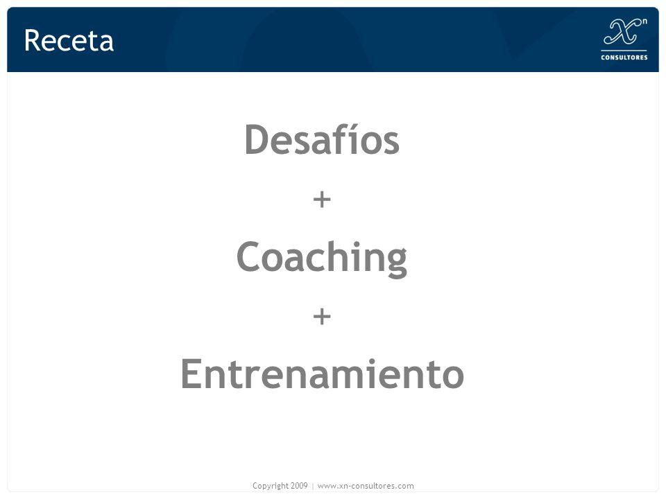 Receta Desafíos + Coaching + Entrenamiento Copyright 2009   www.xn-consultores.com