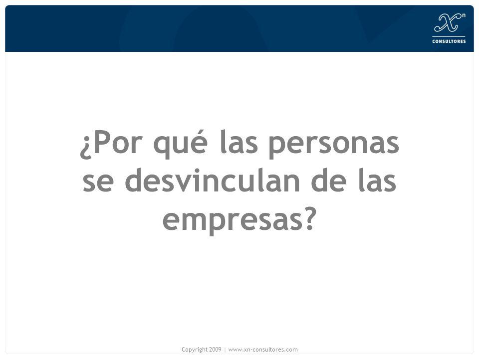 ¿Por qué las personas se desvinculan de las empresas? Copyright 2009 | www.xn-consultores.com