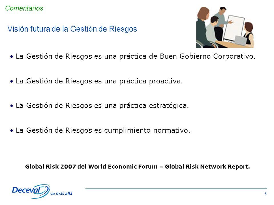 7 Complejo de ATLAS La Gestión de Riesgos es una Práctica Corporativa y no de una sola área de la organización