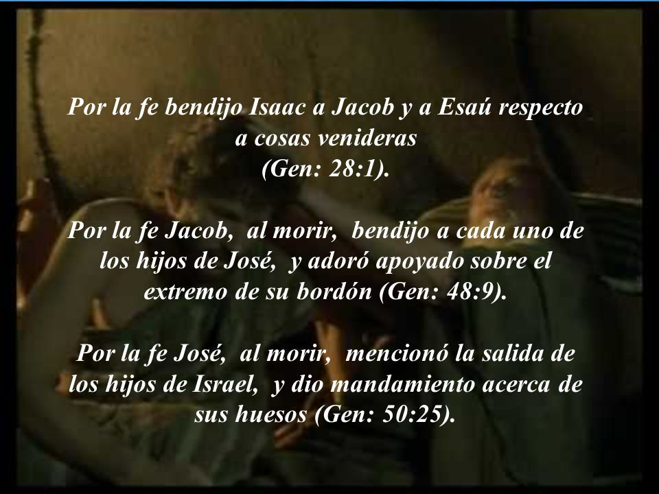 Pensando que Dios es poderoso para levantar aun de entre los muertos, de donde, en sentido figurado, también le volvió a recibir (Gen: 22:1-2).