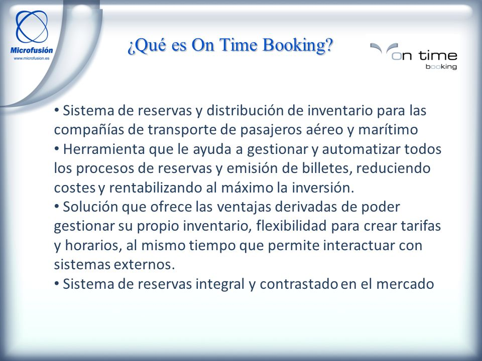 ¿Cómo es On Time Booking.