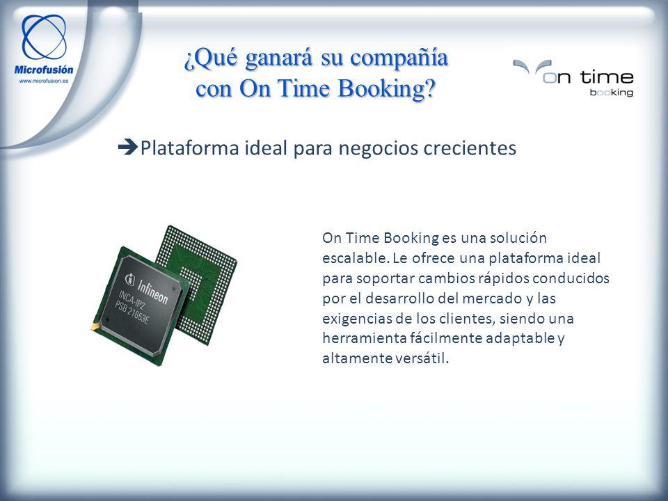 Plataforma ideal para negocios crecientes On Time Booking es una solución escalable.