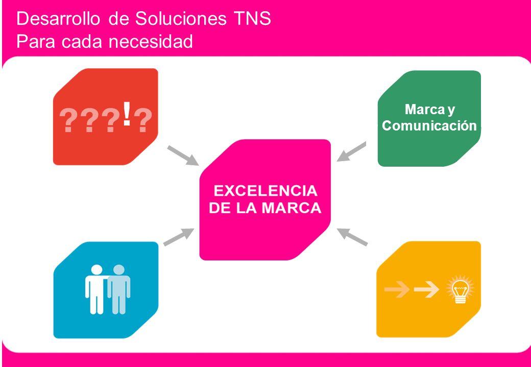 2 Desarrollo de Soluciones TNS Para cada necesidad Marca y Comunicación