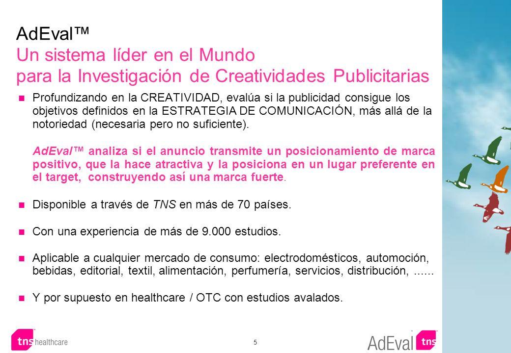 5 AdEval Un sistema líder en el Mundo para la Investigación de Creatividades Publicitarias Profundizando en la CREATIVIDAD, evalúa si la publicidad co
