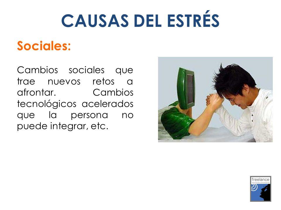 Sociales: Cambios sociales que trae nuevos retos a afrontar.