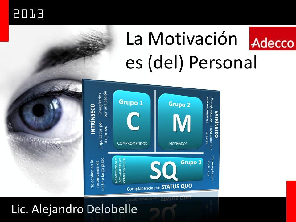 La Motivación es (del) Personal Lic. Alejandro Delobelle 2013