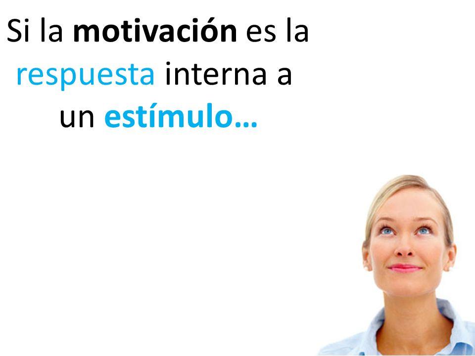 Si la motivación es la respuesta interna a un estímulo…