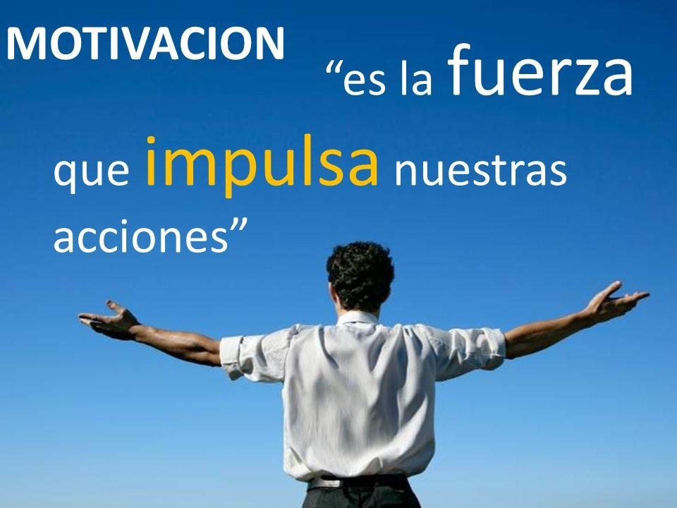 es la fuerza que impulsa nuestras acciones MOTIVACION