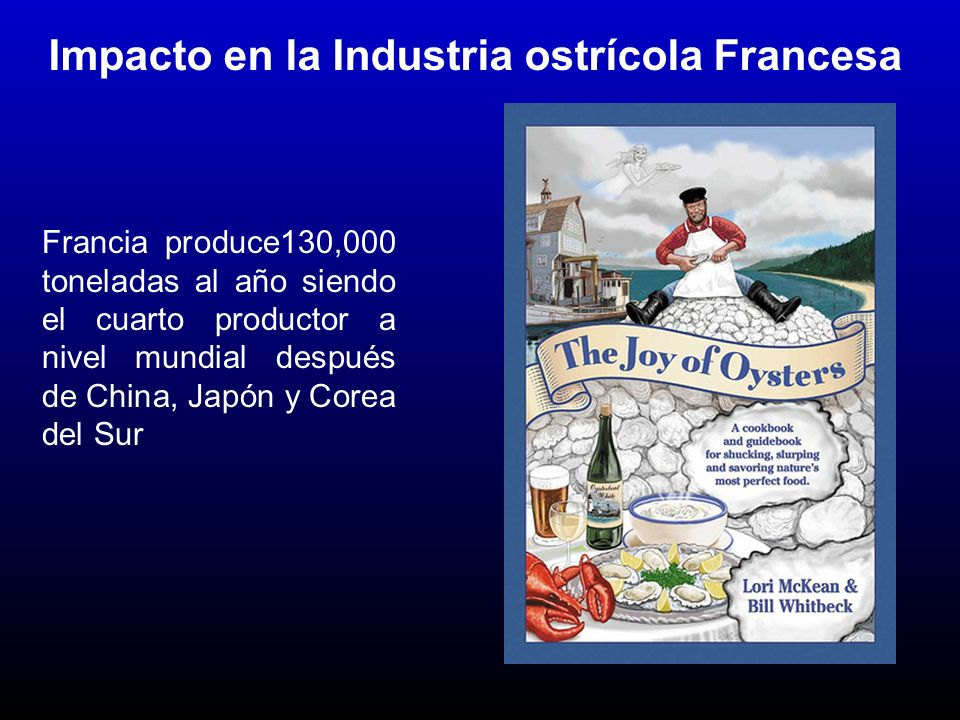 Problema de graves consecuencias en Francia OsHV-1 µVar 2008-2011 OsHV-1 A herpes virus has decimated oysters along Frances 5,500- kilometer coast for a fourth season