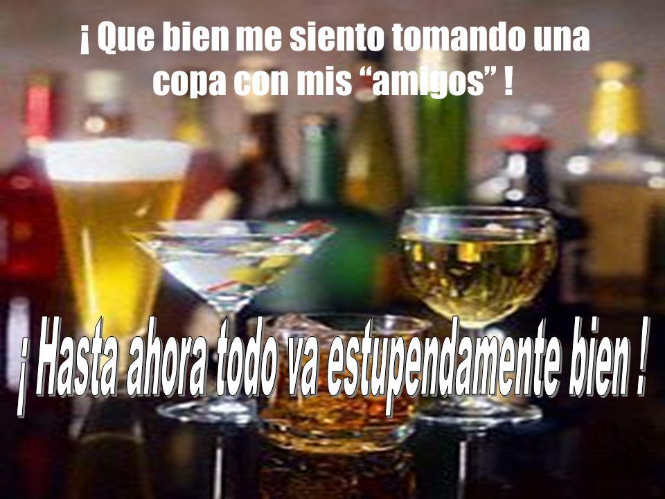 ¡ No soy alcoholico, solo soy un bebedor social ! Mi amigos beben alcohol. Los aprecio y los necesito. Pertenezco a su grupo. Ellos son mis amigos. Si