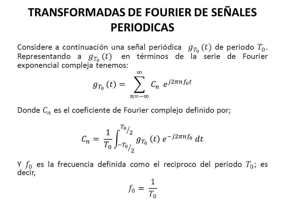 TRANSFORMADAS DE FOURIER DE SEÑALES PERIODICAS