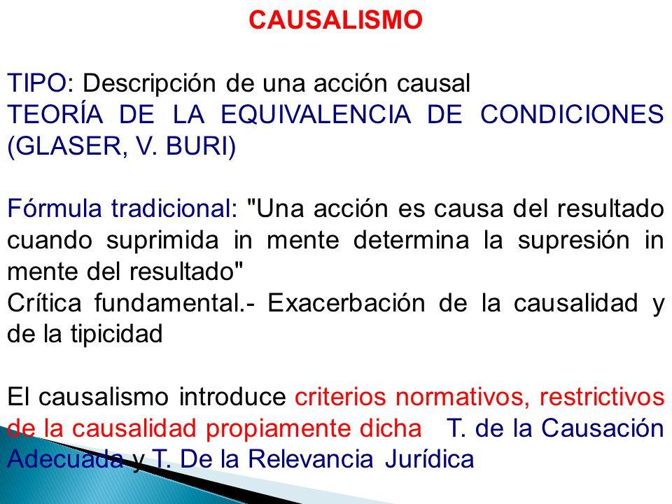 T.DE LA CAUSACIÓN ADECUADA (V.