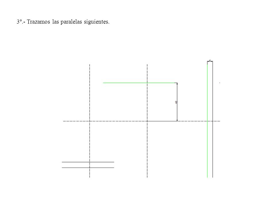 3º.- Trazamos las paralelas siguientes.