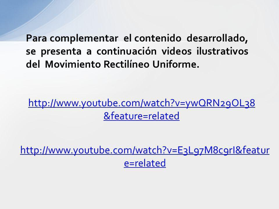 http://www.youtube.com/watch?v=E3L97M8c9rI&featur e=related Para complementar el contenido desarrollado, se presenta a continuación videos ilustrativo