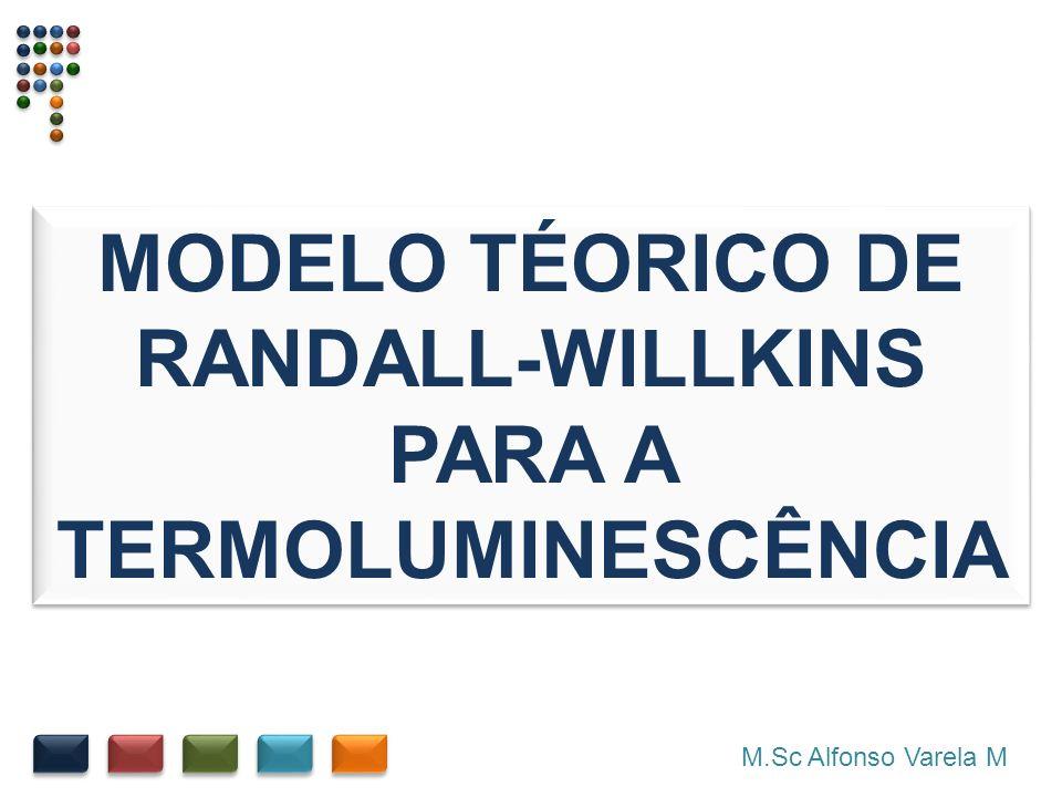 M.Sc Alfonso Varela M MODELO TÉORICO DE RANDALL-WILLKINS PARA A TERMOLUMINESCÊNCIA