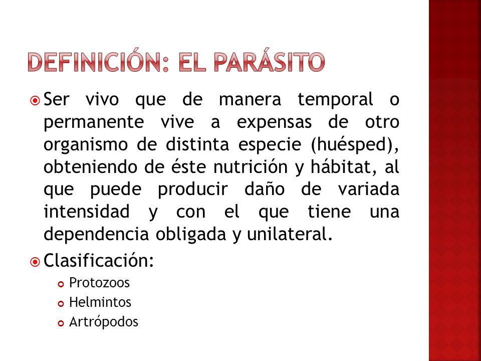 El parasitismo es un fenómeno biológico interdependiente y dinámico entre dos organismos.