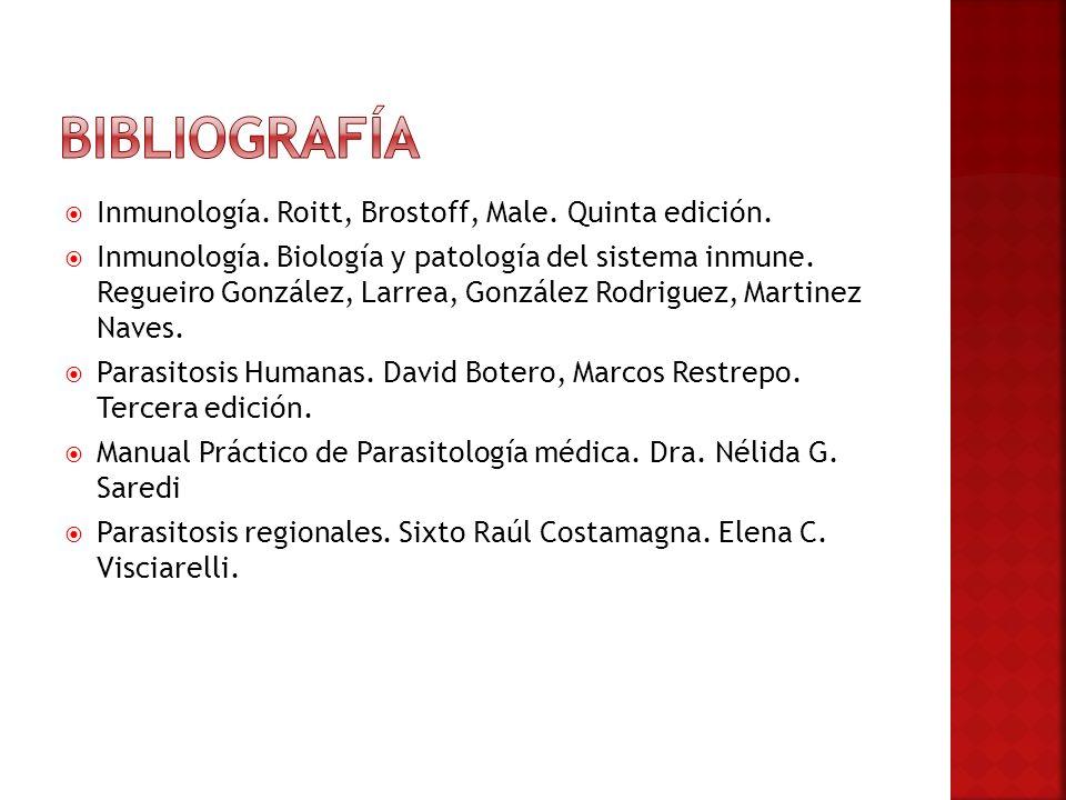 Inmunología. Roitt, Brostoff, Male. Quinta edición. Inmunología. Biología y patología del sistema inmune. Regueiro González, Larrea, González Rodrigue