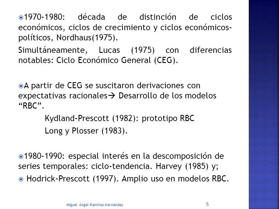 1970-1980: década de distinción de ciclos económicos, ciclos de crecimiento y ciclos económicos- políticos, Nordhaus(1975). Simultáneamente, Lucas (19