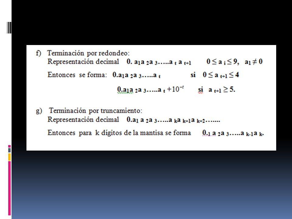 Propagación del error de las funciones Al resolver un problema utilizando métodos numéricos, en general el error será consecuencia de un cúmulo de errores ocurridos en pasos sucesivos, se debe estudiar la mecánica de propagación de los mismos a lo largo del cálculo.