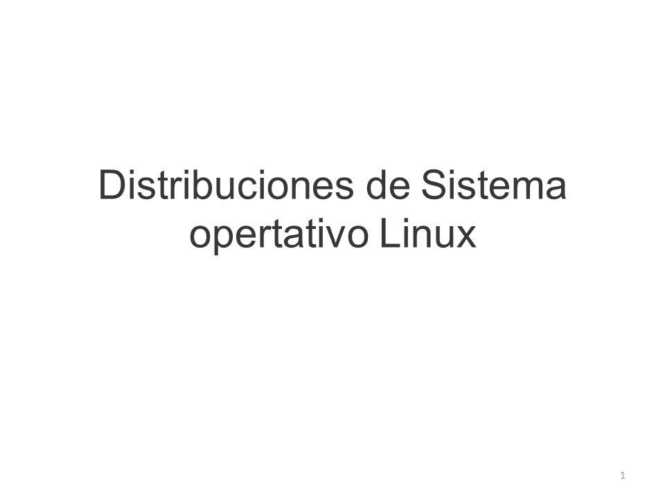 Distribuciones de Sistema opertativo Linux 1