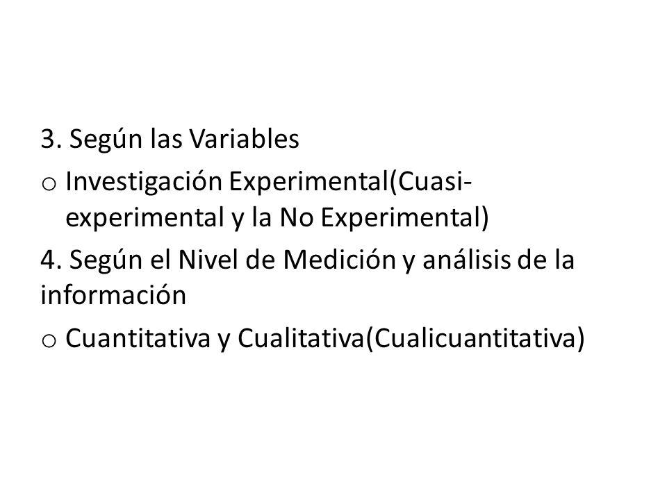 Tipos de Investigación Ya que conocemos los tipos de investigación, estos se dividen en seis Grupos que son: 1.Según el Objeto de Estudio: o Básica y Aplicada(Analitica y de Campo) 2.