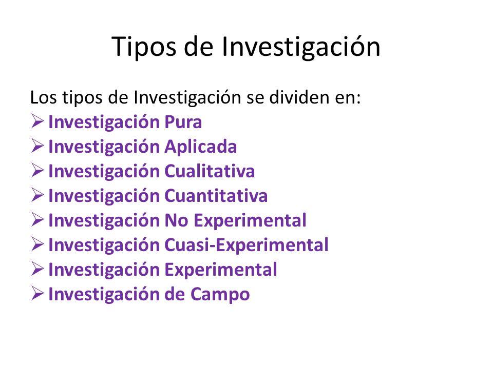 Definición de Investigación En la investigación, se debe de buscar la CAUSA y EFECTO.