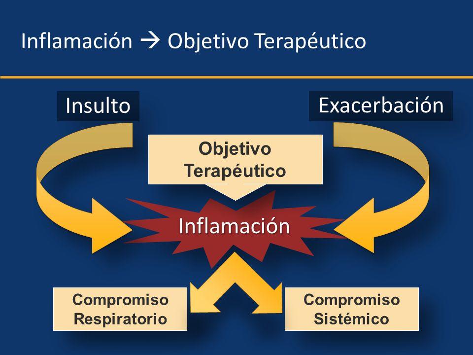 InflamaciónInflamación Inflamación Objetivo Terapéutico Objetivo Terapéutico Compromiso Respiratorio Compromiso Respiratorio Compromiso Sistémico Comp
